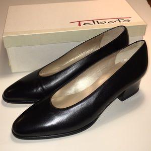 Talbots Black Calf Leather Pumps NWT